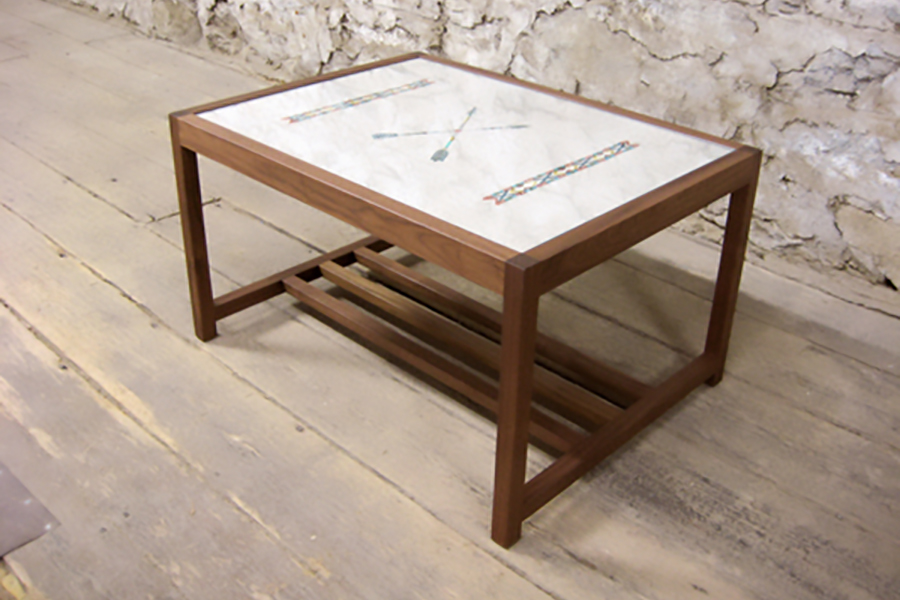 Hicks Glass Top Coffee Table